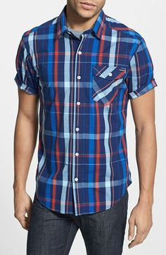 Volcom  Samuel  Short Sleeve Plaid Shirt  e7eca6f5d