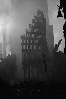 World Trade Center after 9/11. i live in manhattan and watched the buildings burn from my street.
