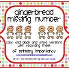 This adorable little gingerbread boys and girls will give your students practice with number order by identifying the missing number.  (free!!)