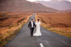 """Ann-Marie and Tom's Christmas wedding was celebrated in the beautiful town of Letterfrack, County Galway, with blue skies and lots of friends and family. 