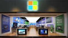 Microsoft's grand opening in SouthPark mall will be Oct. 18.