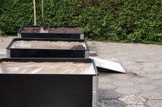 Sådan har vi fået den hyggeligste gårdhavestemning med højbede lavet af pallerammer - en nem og god løsning til højbede i haven - se billeder og vejledning