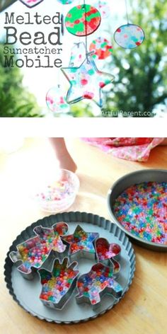 Make a Melted Bead Suncatcher Mobile - fun!