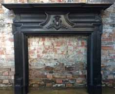 Reclaimed Victorian Style Cast Iron Fireplace Surround Antique Mantel