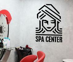 Vinyl Wall Decal Spa Center Woman Beauty Salon Logo Stickers (378ig)