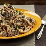 Chef Del's Mushroom Stroganoff - Stroganoff originated in Russia as a beef dish served in a rich sour cream sauce. And although there are many versions of the original recipe, this plant-based one is made with rich porcini mushrooms