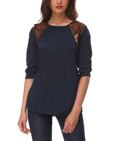 Look what I found on #zulily! Blue Tokio Top by Almatrichi #zulilyfinds