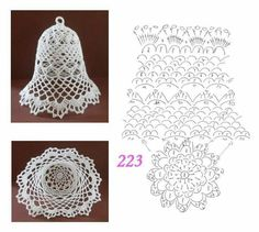 Best 12 Tried the middle one with standard-sized crochet thread. Turned out horribly, and was extremely large and crowded. I think the – Page 343258802834501832 – SkillOfKing. Crochet Doily Patterns, Crochet Diagram, Thread Crochet, Crochet Designs, Crochet Doilies, Crochet Flowers, Doily Rug, Crochet Christmas Decorations, Crochet Ornaments