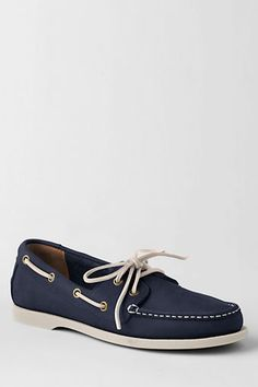 Men's Leather Boat Shoe from Lands' End