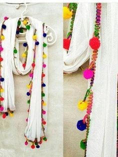* Fabric: Chiffon * Color: White * Length: M * Work: Lace Work * Style: Pom-Pom Quality Guarantee Wash Care : Home Wash Delivery Time:-Same Day Dispatch Occasion : Festival, Partywear, Casual, Dailywear Cotton Suit, Work Fashion, White Cotton, Women Wear, Chiffon, Stitch, Lace, Fabric, Dress