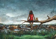 """Illustration bu Julie Sneeden for """"Yesterday""""written by Niki Burton"""