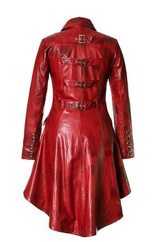 Impero Ladies Red Leather Steampunk Riding Fitted Tail Coat 8 20   eBay . . . I'd take this one too.