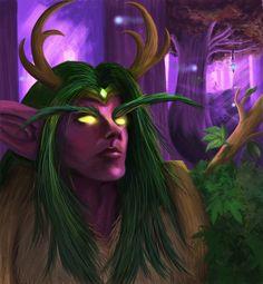 Night Elf Druid by NotBySight1109.deviantart.com on @DeviantArt