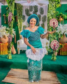 Trending Aso Ebi Styles at the moment African Lace Styles, African Lace Dresses, Latest African Fashion Dresses, African Inspired Fashion, Nigerian Wedding Dresses Traditional, Traditional Wedding Attire, African Traditional Dresses, Traditional Weddings, African Wedding Attire