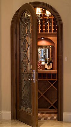 Love this door.  Transforms an ordinary closet into useful / decorative space