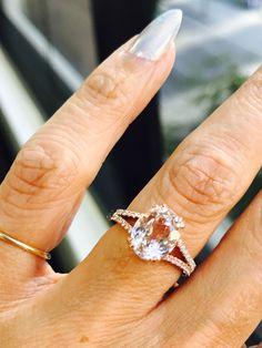 Morganites ❤❤ #engagementrings #diamonds