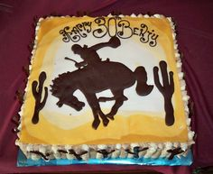 horse birthday cakes | wild west horse rider birthday cake | Elisabeth's Wedding Cakes