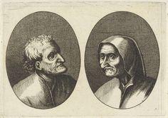 Anonymous   Ritze Stijn en Schurckje Sonder-Baerdt, Anonymous, Pieter Brueghel (I), 1612 - 1702   Prent uit een serie van 12 prenten met koppen van boeren en boerinnen.