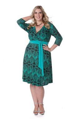 IGIGI by Yuliya Raquel Dominique Dress in Green Paisley