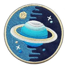 """Iron on/Sew on/Embroidered Patch """"Space Explorer"""" (Set): Amazon.co.uk: Kitchen & Home"""