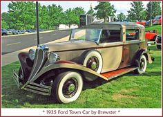 1935 Ford Town Car by Brewster Ford Motor Company, Vintage Cars, Antique Cars, Michigan, Car Hood Ornaments, Ford Girl, Classic Motors, Car Ford, Collector Cars