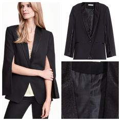 Size 6 tuxedo fitted black blazer jacket new New! H&M Jackets & Coats Blazers