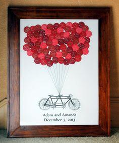 Boda los libro globos Tandem bicicleta para por SayAnythingDesign