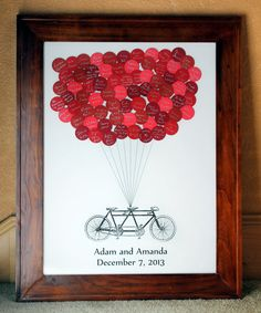 Wedding Guest Book Balloons Tandem Bike for by SayAnythingDesign, $55.00
