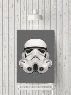 Geometric Stormtrooper Helmet de GeometricArtbyMak en Etsy