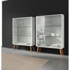 Ideaz International 23105 Lina Cabinet With Glass