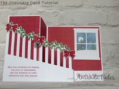 The Craft Spa - Stampin' Up! UK independent demonstrator : Staircase Card - The Tutorial - Making the Stairs ...