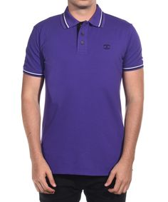 JUST CAVALLI Just Cavalli Men Classic Polo Shirt Purple'. #justcavalli #cloth #polos