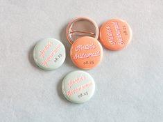 Personalized Wedding Buttons #wedding #buttons #custom   Evermine Blog   www.evermine.com