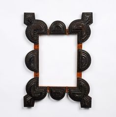 Tramp Art | neat tramp art frame with bold thickly carved layers. The corners ...
