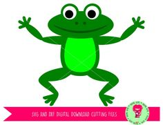 Frog SVG / DXF Cutting Files for Cricut Design Space / Silhouette Studio & PNG Clipart, Digital Download, Commercial Use Ok by DigitalGems on Etsy