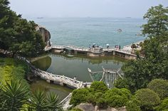 Garden above the sea.  Gulangyu is a nice island 10-minute ferry from Xiamen, off the Fujian province coast. Almost no cars, some nice beaches, good seafood, old style buildings, perfect!