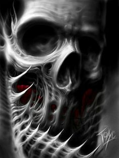 .Great design for a skull tattoo