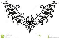 Bat, Halloween, Tribal Stock Photography - Image: 33577022