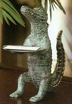 Alligator business card holder