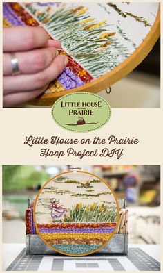 Little House on the Prairie Hoop Project - With free printable supply sheet!