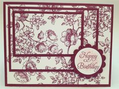 Triple Stamping Happy Birthday Card by yykaren - Cards and Paper Crafts at Splitcoaststampers