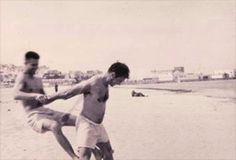 Jack Kerouac &Peter Orlovsky in Tangier (1950s)
