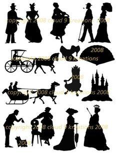 dickensian silhouette - Google Search
