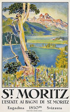 SWITZERLAND  ST. MORITZ poster by Eduard Stiefel 1924 .jpg (499×800)