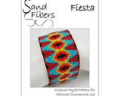 Peyote Pattern Not an Argyle Peyote Cuff / Bracelet by SandFibers