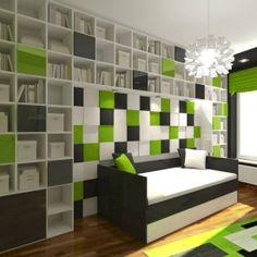 Wizualizacja. Panele Pixel. Prywatne mieszkanie. Projekt Artdekor.