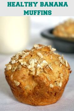 Healthy Banana Muffins for toddlers, and even babies over 6 months. They have no refined sugar added, their sweetness coming from the mashed banana. The muffins are also great to pack in the school lunch box, or enjoy as a healthy afterschool snack. Healthy Afterschool Snacks, Healthy Homemade Snacks, Healthy Snacks For Kids, Healthy Desserts, Healthy Recipes, Healthy Muffins For Toddlers, Detox Recipes, Healthy Drinks, Crockpot Recipes
