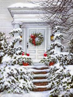 Christmas Front Porch Decorating Ideas to Make your home look like Christma. - Christmas Front Porch Decorating Ideas to Make your home look like Christmas Movies – Ethinify -