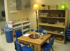 Preschool Art center with natural materials...ideas for updating and creating beautiful inspiring classroom centers from Highland Plaza Preschool