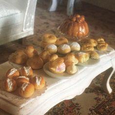 Selezione di dolci italiani in scala 1:12